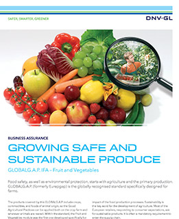 GLOBALG.A.P. IFA – Fruit and Vegetables - certification by DNV GL